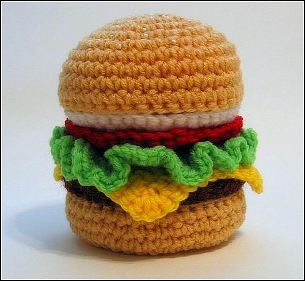 Alimentos tejidos a crochet ~ Solountip.com