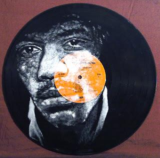 Jimi Hendrix - (i) inspired by photo by David Montgomery