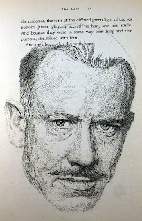 John Steinbeck - (i) inspired by photo by Philippe Halsman
