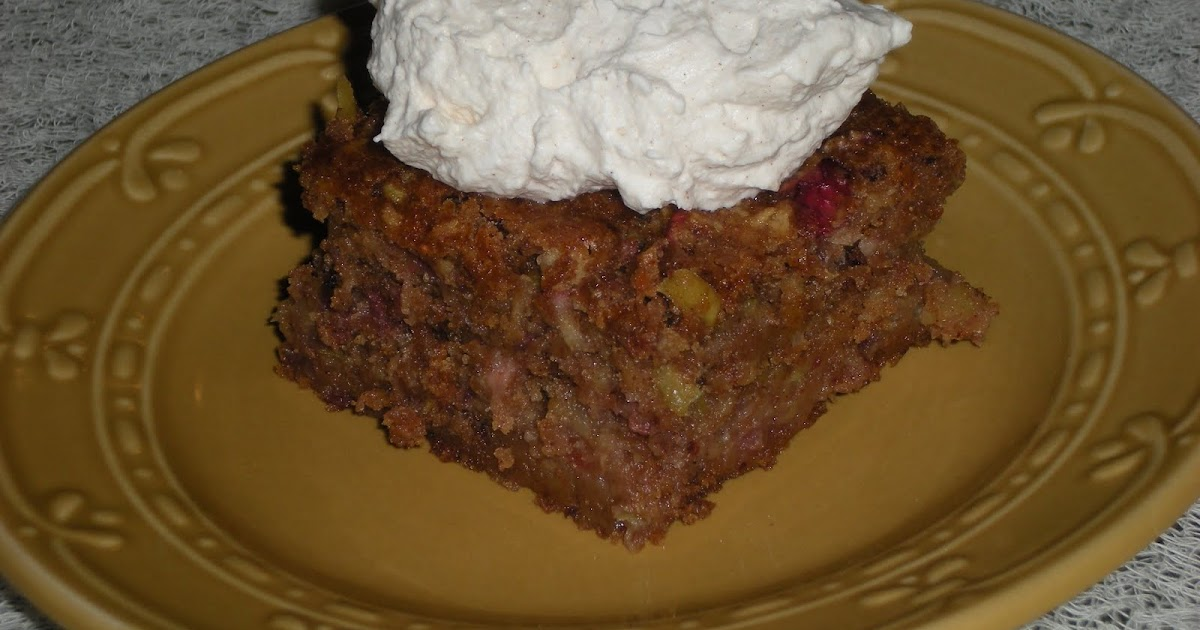 The Nourishing Apron: Apple Cranberry Cake with Cinnamon