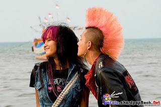 Foto Andhika Pratama saat shuting pembuatan filem Punk In love