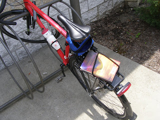 book on bicycle