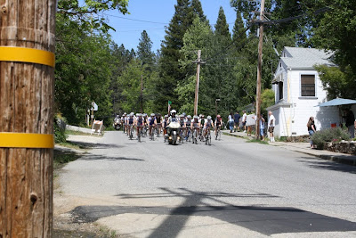 Woman Biking in Nevada City Classic