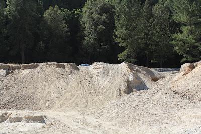 gravel cliff