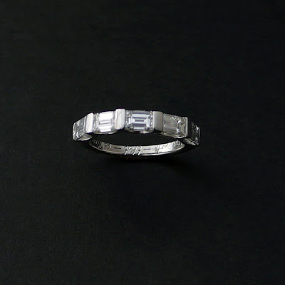 Diamond Baguette Wedding Band on My Shiny   Sparkly Gem Of A Life  Final Baguette Diamond Wedding Band