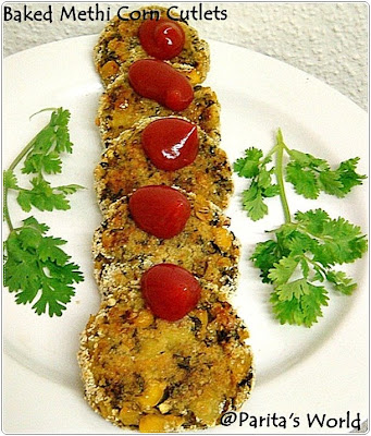 Baked Corn Methi Pattice