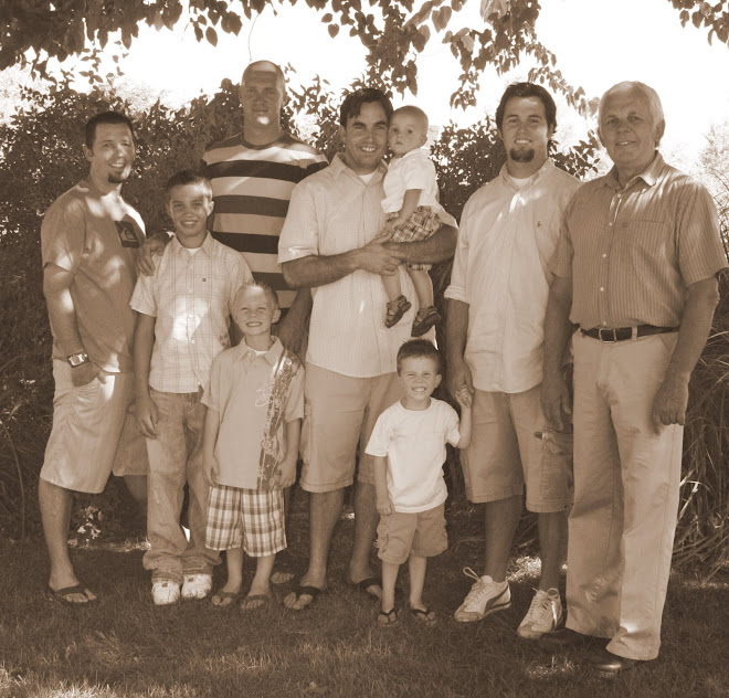 All of the boys in our Family