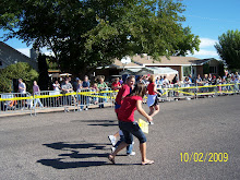 YEY Bob Green coming over the Finish Line St George Marathon 22009