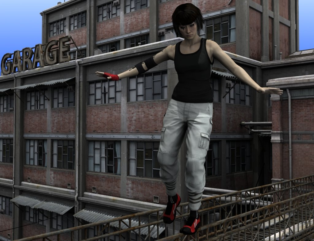 3d model of Faith from the game mirror's edge