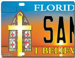 christian license plate