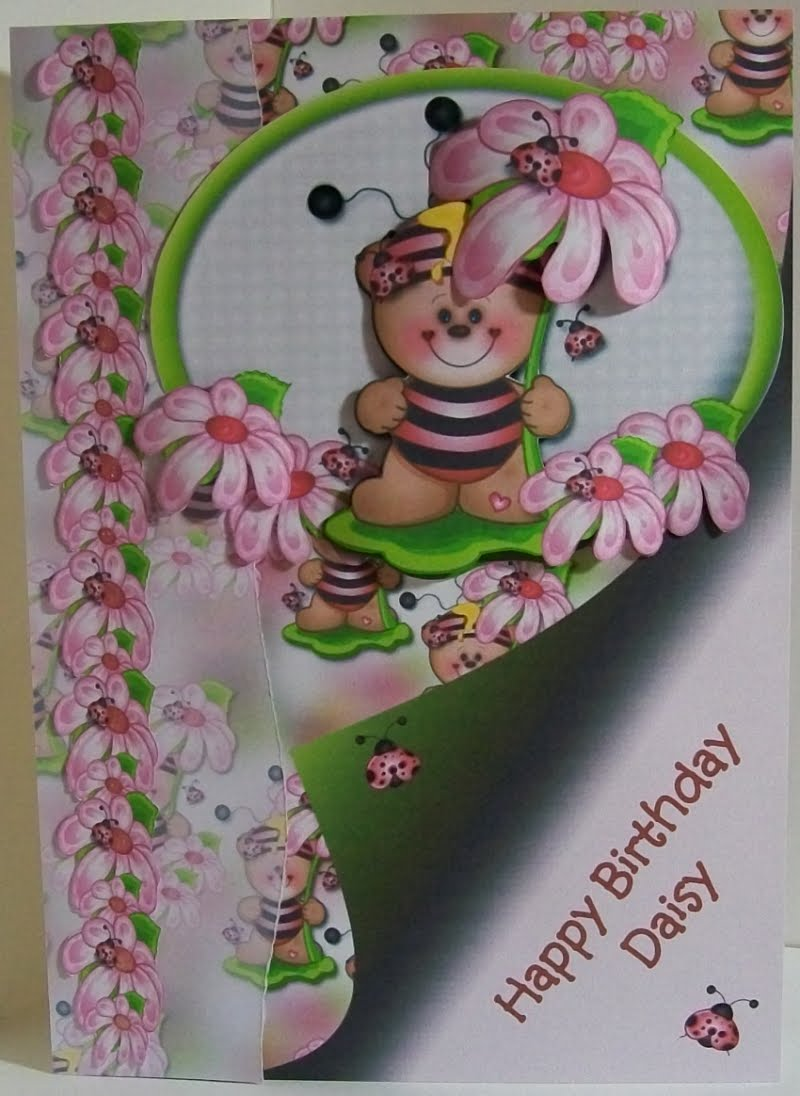 Bear Beezzzz Birthday card. What better image for a little girl called Daisy ...