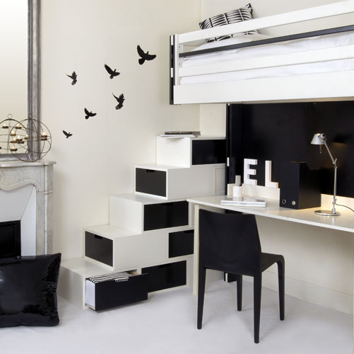 uzumaki interior design interior with black and white style colour. Black Bedroom Furniture Sets. Home Design Ideas