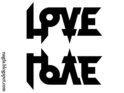Love hate symbol image yahoo answers for Love n hate tattoo