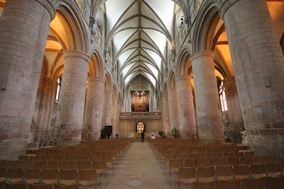 The Nave in Gloucester Cathedral, England