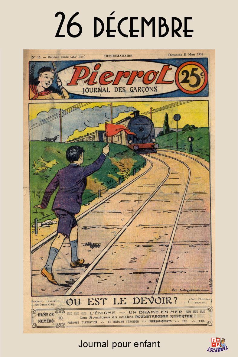 imagerie du chemin de fer pierrot journal pour enfant 1935. Black Bedroom Furniture Sets. Home Design Ideas
