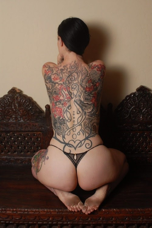 women back tattoos are most useful and popular this types of tattoos