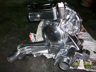 engine vespa px150 crome