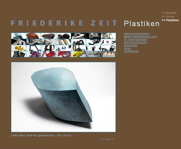 Friderike Zeit very Stunning design, layout and compliments the work very  well.