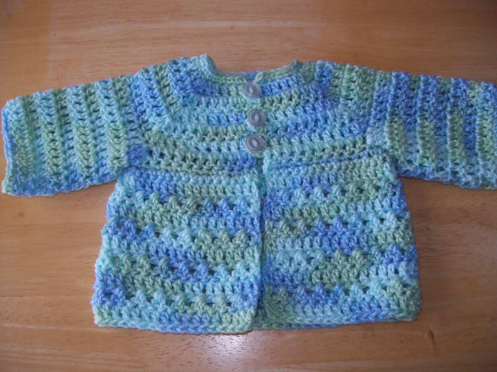 Easy Crochet Baby Vest Pattern : Easy Baby Crochet Sweaters - Long Sweater Jacket
