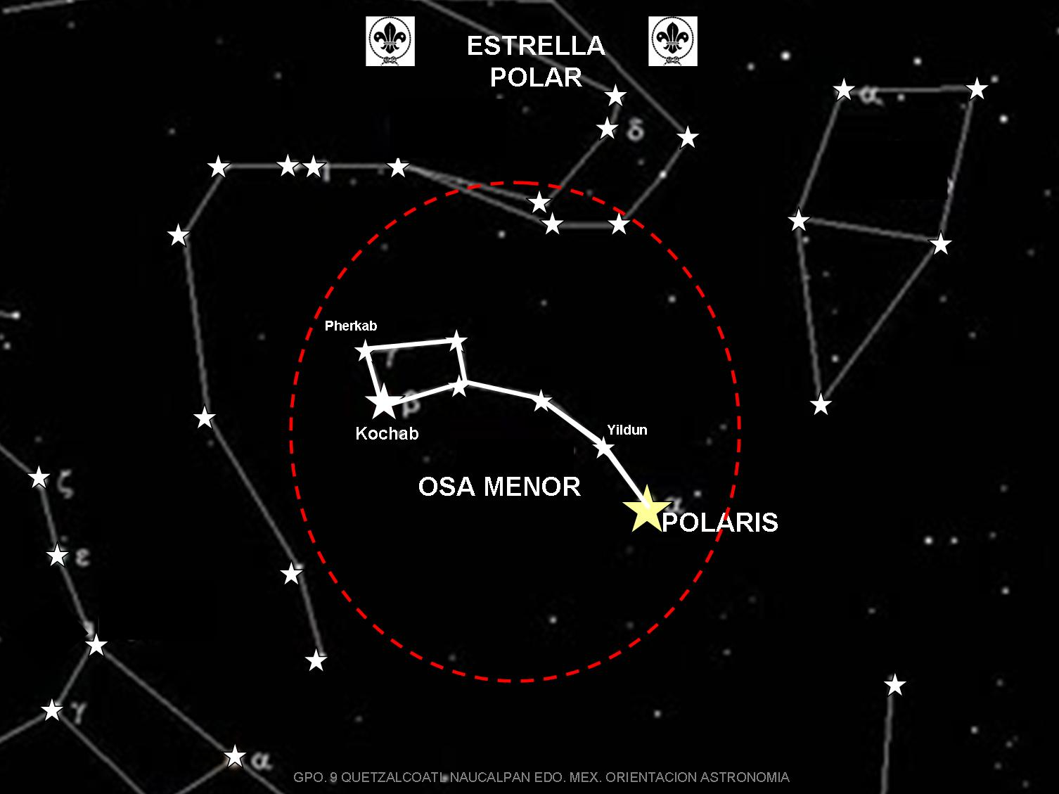 how to find the north star using orion