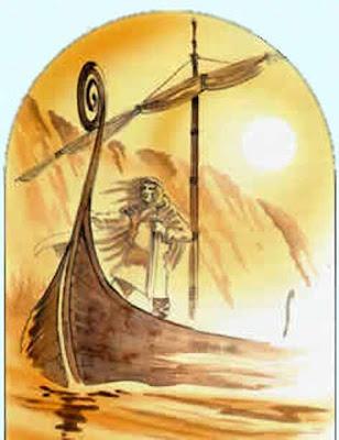 DIEU+ING-FREYR+SUR+SON+BATEAU dans Runes
