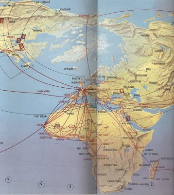 The Timetablist: Air France: Africa c. 1960