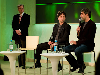 Eric Shmidt, Sergey Brin, Larry Page