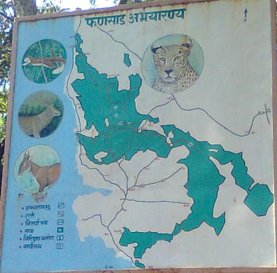 map of the Phansad Wildlife Sanctuary