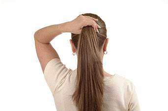 Long Hair Tied Back LONG HAIRSTYLES