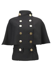 black cape coat