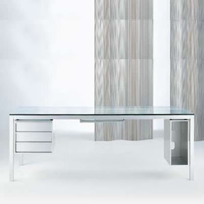 glass top desk. glass top desk. frame and