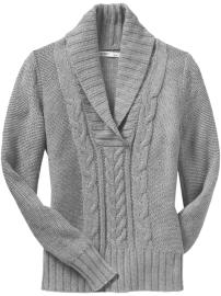 Shawl Collar Sweater For Women