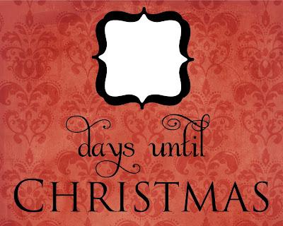 Printable Christmas Countdown Christmas countdown printable