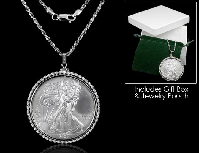 Silver Eagle Coin Pendant American Eagle Silver Dollar