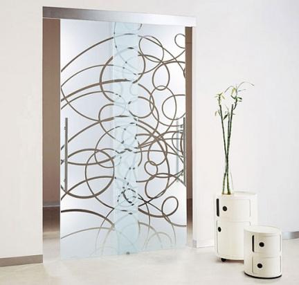 Signo gr fico vidrios vinilos decorativos simil esmerilado for Puertas de vidrio corredizas para interiores