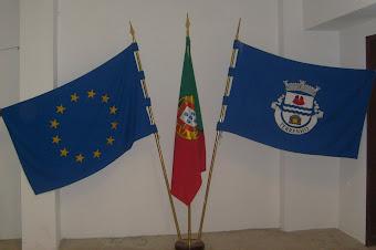 Bandeiras,da Europa, Portuguesa e do Terrenho