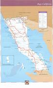 BAJA CALIFORNIA SUR mapa de la ciudad de la paz