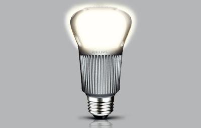 Lámpara LED encendida
