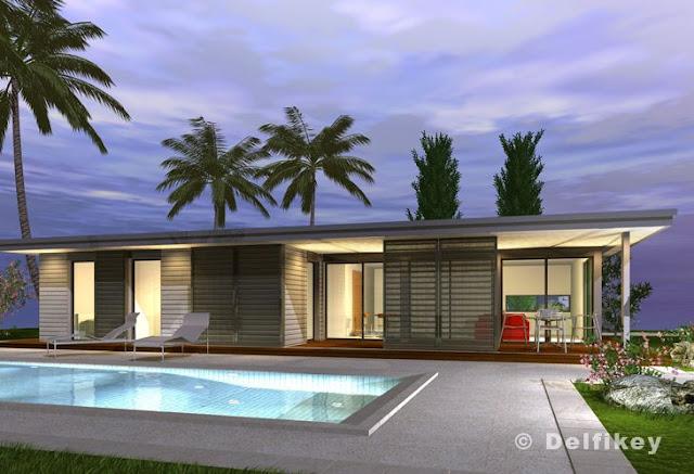 Arquitectura de casas sobre la construcci n en seco de for Modelos de construccion de casas modernas