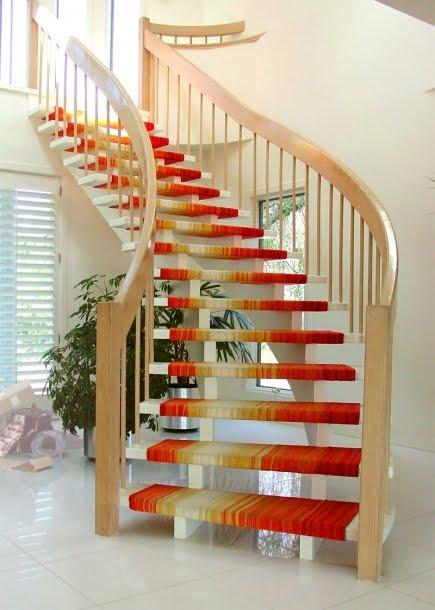 Arquitectura de casas alfombras modernas nicas de no tejido - Alfombras para escaleras ...