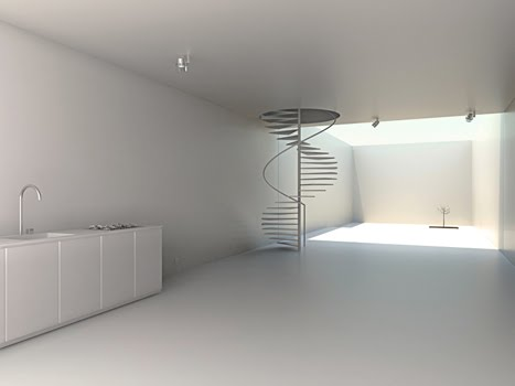 Arquitectura de casas casa peque a estilo minimalista en for Casa minimalista interior blanco