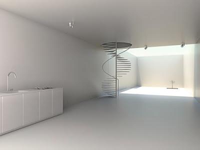Interior de la casa china estilo Minimalista