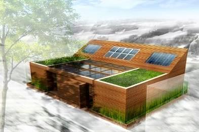 Casa prefabricada renderizado de un proyecto