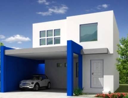 Renderizado de un modelo de casa contemporánea