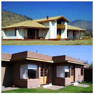 Casa moderna hecha de adobe