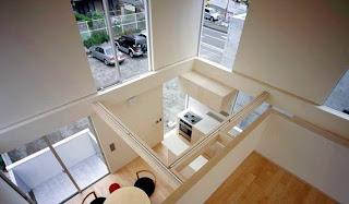 Vista del interior de la casa urbana japonesa