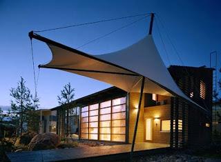 Casa + estructura textil
