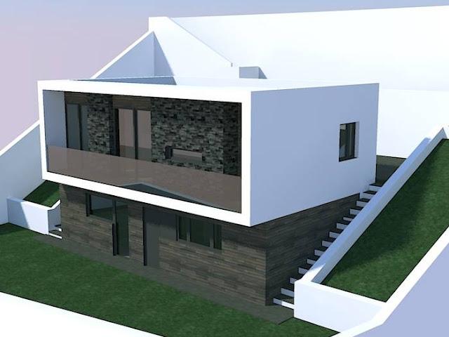 Arquitectura de casas proyecto de casas residenciales en for Viviendas sobre terrazas