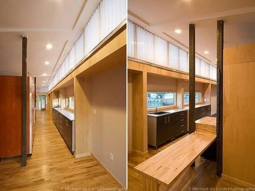 Casa trailer americana ampliada y modernizada