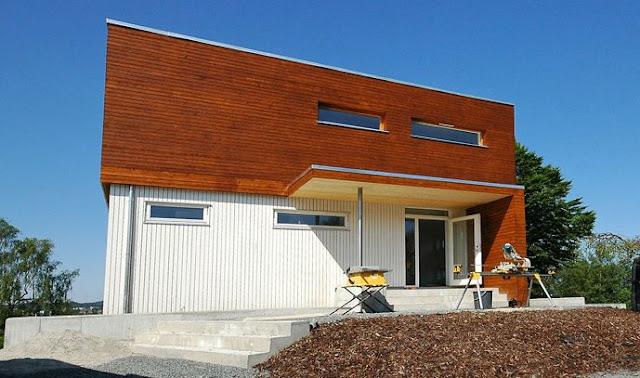 Arquitectura de casas moderna casa ampliada reformada en for Casas en noruega